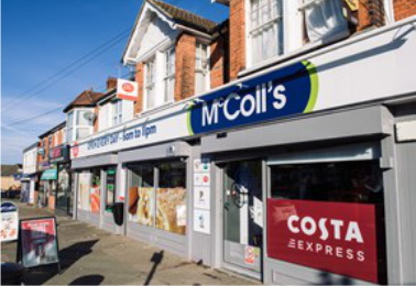 McColl's plans to close 330 stores over the next 3 years.