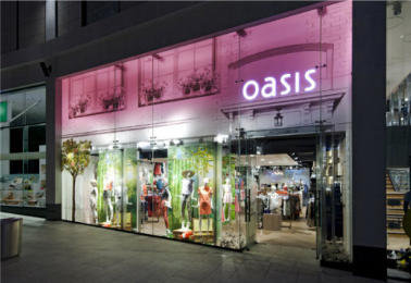 Administrators announce permanent closure of Oasis & Warehouse stores.